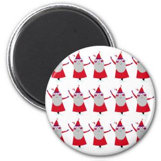 Cute little Santas Red Magnet