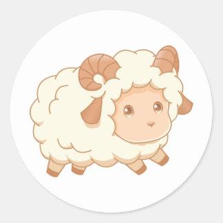 Cute Little Sheep Ram Classic Round Sticker