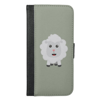Cute little sheep Z9ny3 iPhone 6/6s Plus Wallet Case