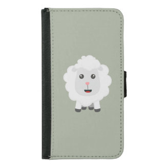 Cute little sheep Z9ny3 Samsung Galaxy S5 Wallet Case