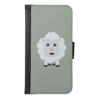 Cute little sheep Z9ny3 Samsung Galaxy S6 Wallet Case