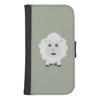 Cute little sheep Z9ny3 Samsung S4 Wallet Case