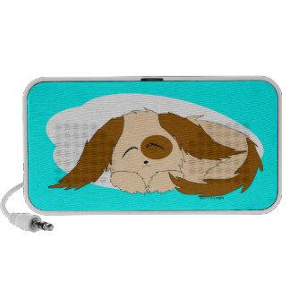 Cute Little Sleepy Puppy Dog Doodle Speaker