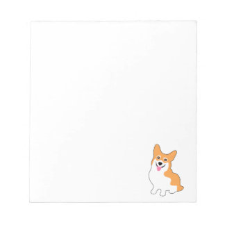 Cute Little Smiling Corgi Puppy Notepad