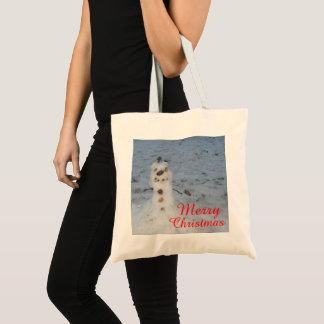 Cute Little Snowman Tote Bag