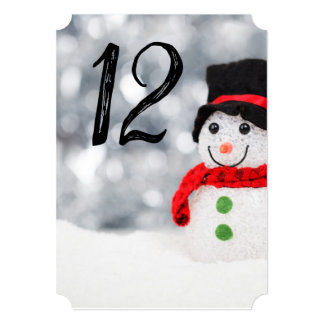 Cute Little Snowman w Red Scarf & Black Top Hat Card