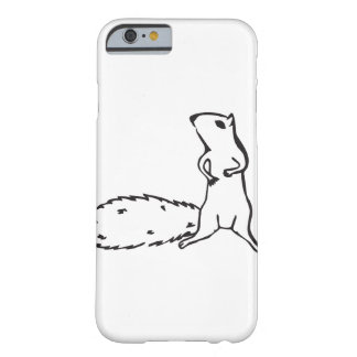 Cute little squirrel barely there iPhone 6 case