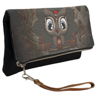 Cute little steampunk owl clutch