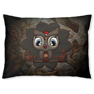 Cute little steampunk owl pet bed