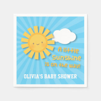 Cute Little Sunshine Baby Shower Supplies Disposable Napkin