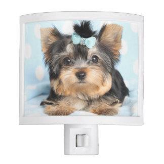 Cute little tea cup puppy dog night lights