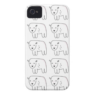 Cute little teddies on white Case-Mate iPhone 4 case