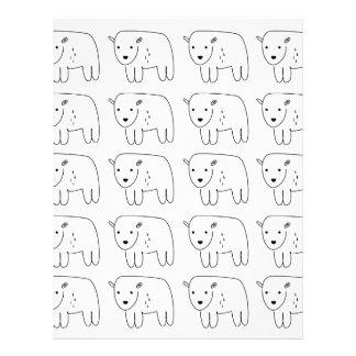 Cute little teddies on white letterhead