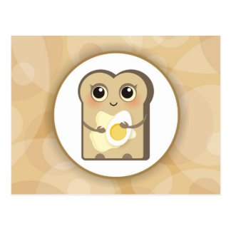 Cute Little Toast - Butter and Egg Postcard