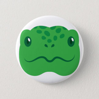 cute little tortoise turtle face 2 inch round button