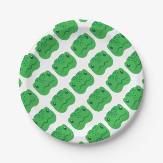 cute little tortoise turtle face 7 inch paper plate