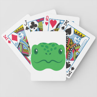 cute little tortoise turtle face bicycle playing cards