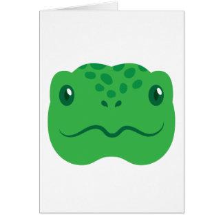 cute little tortoise turtle face card