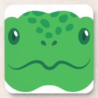 cute little tortoise turtle face coaster