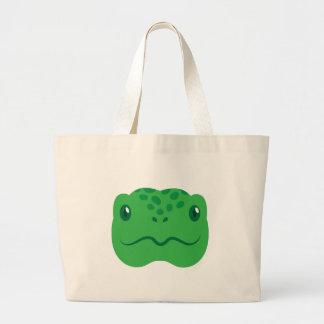 cute little tortoise turtle face large tote bag