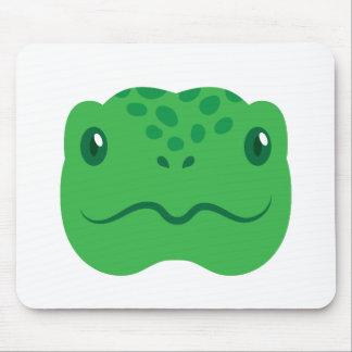 cute little tortoise turtle face mouse pad
