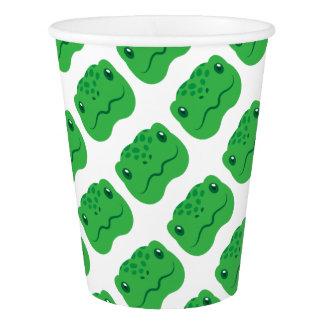 cute little tortoise turtle face paper cup