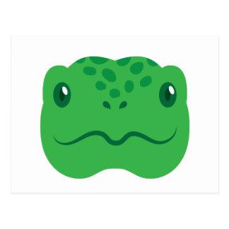 cute little tortoise turtle face postcard