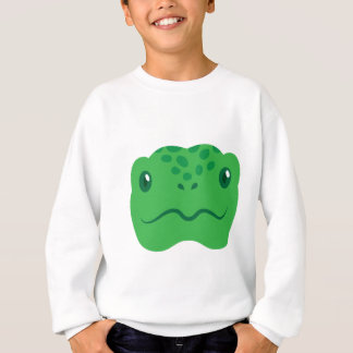 cute little tortoise turtle face sweatshirt