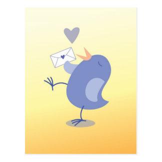 Cute little Tweeter Bird with a letter! Postcard