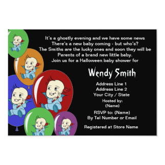 Cute Little Vampire Baby Shower Invitation Cards