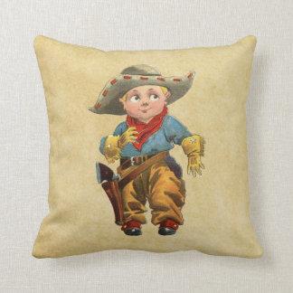cute little vintage cowboy throw pillow