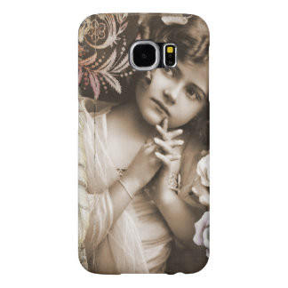 Cute Little Vintage Girl Samsung Galaxy S6 Cases
