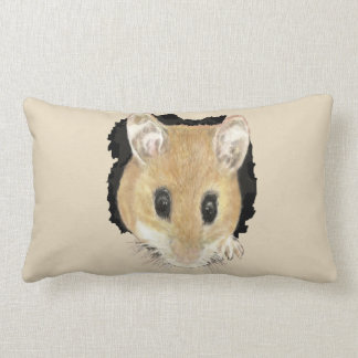 Cute Little Watercolor Pet Pocket Mouse Animal Art Lumbar Pillow