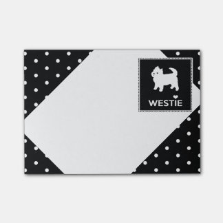Cute Little Westie - West Highland Terrier Post-it® Notes