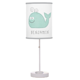 Cute Little Whale Personalized Lamp