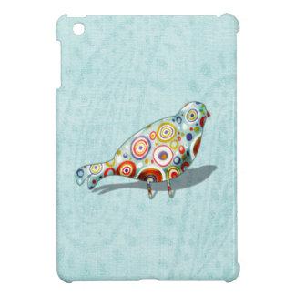 Cute Little Whimsical Bird on Paisley iPad Mini Case