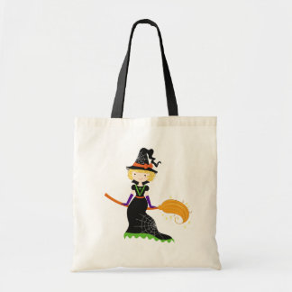 Cute Little Witch Trick or Treat Bag
