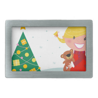 Cute little xmas girl red belt buckle