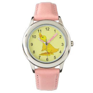 Cute Little Yellow Cartoon Duck Watch