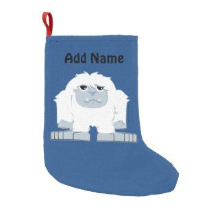 Cute little Yeti Small Christmas Stocking