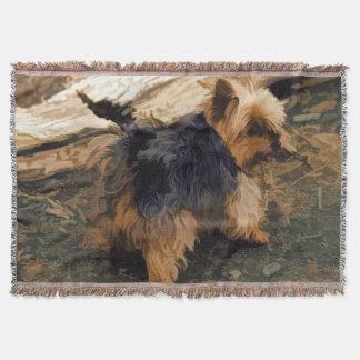 Cute Little Yorkie   - Yorkshire Terrier Dog Throw Blanket