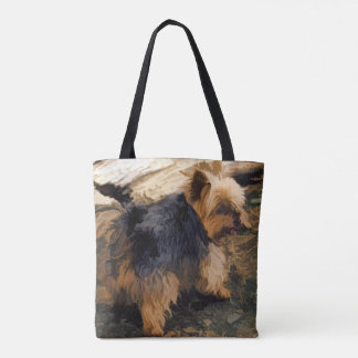 Cute Little Yorkie   - Yorkshire Terrier Dog Tote Bag