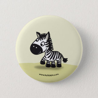Cute little zebra 2 inch round button