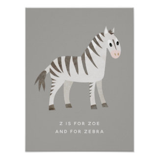 Cute Little Zebra Poster
