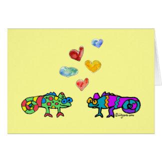 Cute Lizard Love Card