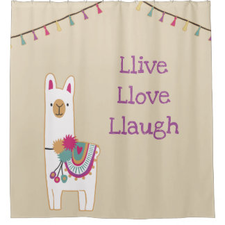 Cute llama design with custom background color