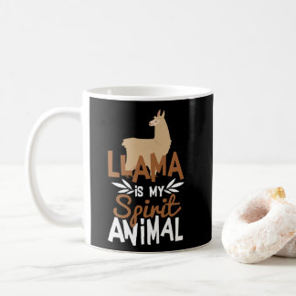 Cute Llama Is My Spirit Animal Print Coffee Mug