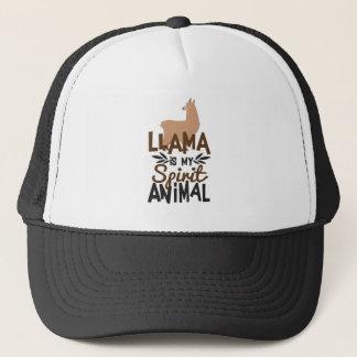 Cute Llama Is My Spirit Animal Print Trucker Hat