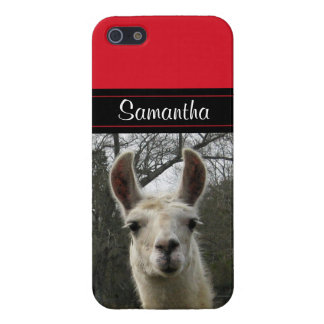 Cute Llama Personalized iPhone 5 Case