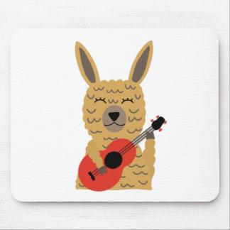 Cute Llama Playing a Guitar Mouse Pad